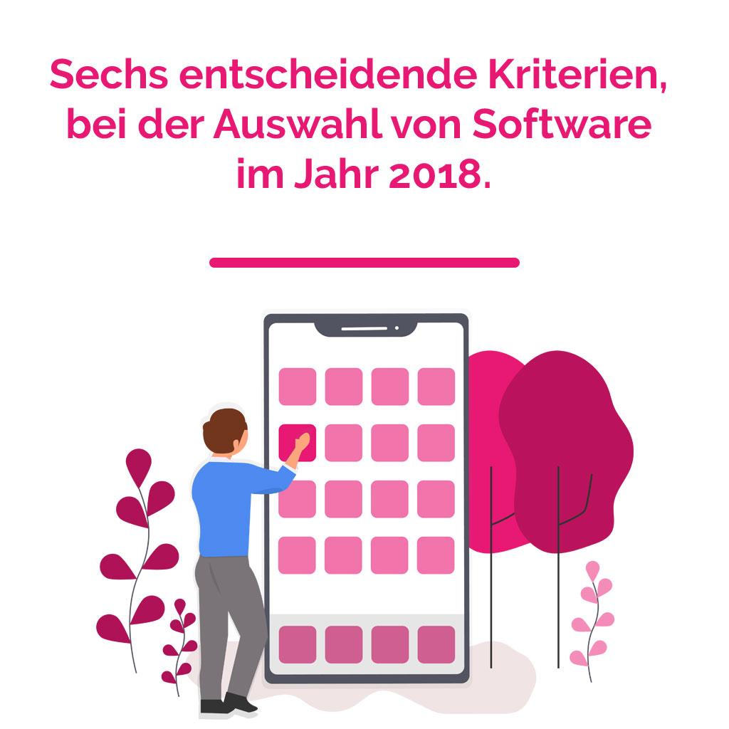 Sechs entscheidene Kriterien bei der Auswahl von Software im Jahr 2018